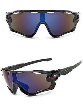 Zolimx Nuevas Gafas de Sol de la Lente UV400 Que Completan un Ciclo Los Vidrios de Ciclo de la Bici de Montaña...