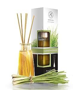 raumduft diffuser lemongrass zitronengras 100ml mit duftst bchen st bchen mit naturreines. Black Bedroom Furniture Sets. Home Design Ideas