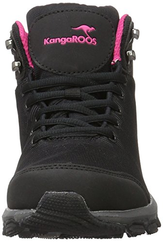 KangaROOS - Ku I Hi S, Scarpe da ginnastica Unisex – Adulto Nero / Magenta