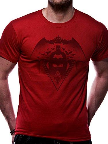 Superman-red T-shirt (Batman VS Superman Herren T-Shirt Fear The, Rot (Red), S)