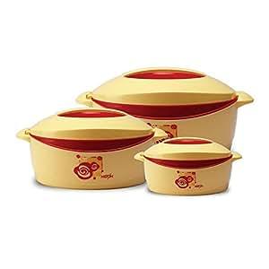 Milton Trumph Casserole Gift set, 3-Piece, Red (EC-THF-FTK-0027)