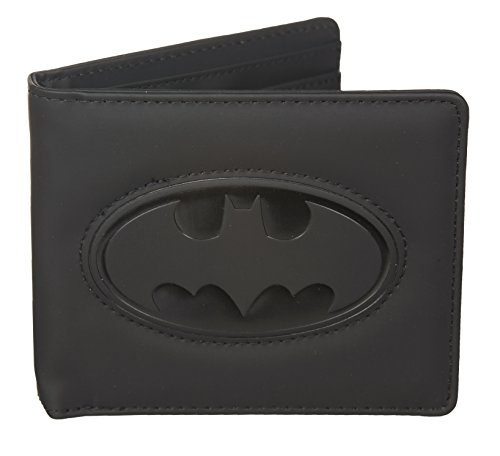 Batman negro Logo en relieve tipo cartera
