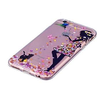 Iphone 7 Hülle Silikon Mädchen Transparenter Ultra Dünner Tpu Weicher Handy Hülle Dechyi Kunstmalerei Serie Handyhülle Iphone 7 Mädchen 2