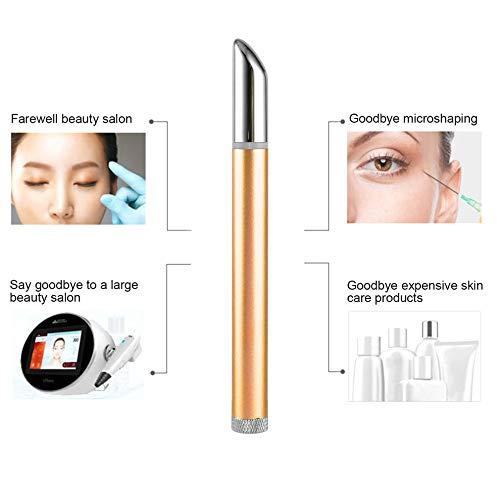 Eye Massager, Portable Ion Eyes Instrument Cosmetic Pen Ion Beauty Eye Instrument Eye Pouch Black Rim Remover Home Mist Rim