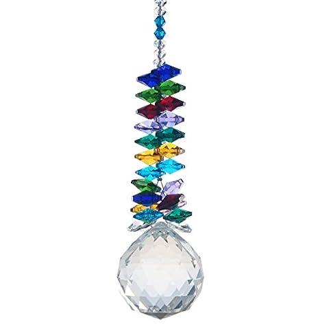 H &D 40 mm-Cristal Transparent-Prism-Rainbow-Octagon Ornaments perles à suspendre Attrape-soleil