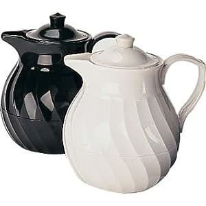 Isolierte Coffee Tea Pot Teekanne schwarz - 36 Oz (1,1 l), Kunststoff und hält den Inhalt bis zu 4 Stunden warm.