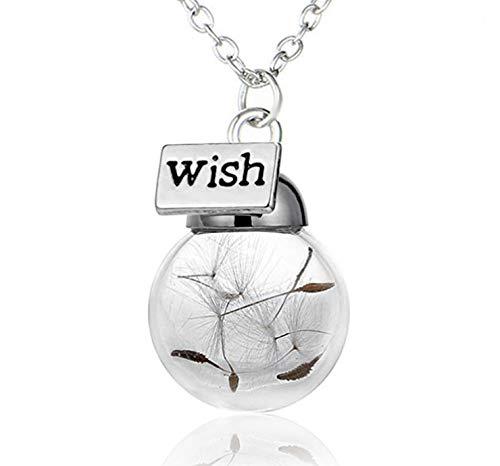 Lunapolaris® Halskette - Glückskugel mit Pusteblume - Wish - Speziell Handgefertigt & liebevoll eingearbeitet ┃ Ein Traum Geschenk zum Wünschen