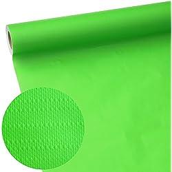 50m x 1,15m JUNOPAX® Manteles de papel verde manzana, resistentes al agua y al roce