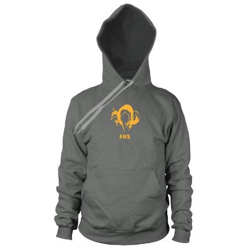 Metal Gear Fox - Herren Hooded Sweater, Größe: M, Farbe: grau (Solid Snake Kostüme)
