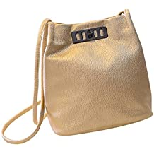 f803cc3ea Bolso Bandolera Bolsa de hombro de Piel Grande para Mujer y Shoppers por  ESAILQ D
