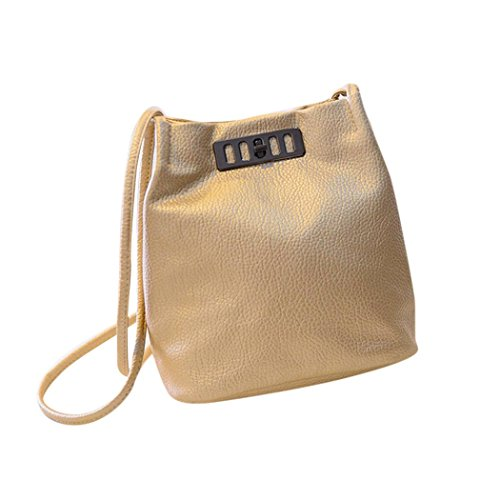 Bolso Bandolera Bolsa de hombro de Piel Grande Dorado para Mujer y Shoppers por ESAILQ D