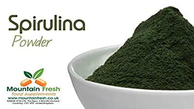 Organic Spirulina Powder - Blue-Green Algae - Superfood Supplement 25g FREE UK Delivery from Mountain Fresh