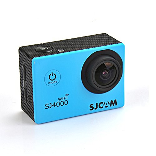 SJCAM WIFI SJ4000 Action Sport Cam Fotocamera Impermeabile Full HD 1080p 720p Video Foto Bici da Casco Sport d'acqua Blu