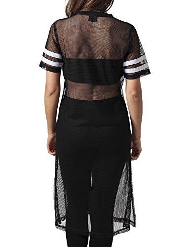 Urban Classics Damen T-Shirt Ladies Mesh Long Tee Mehrfarbig (blk/wht 50)