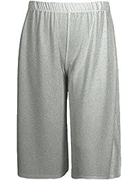 MiSketch New Ladies Women 3 4 Shorts Wide Leg Culottes Palazzo 6501110bc079