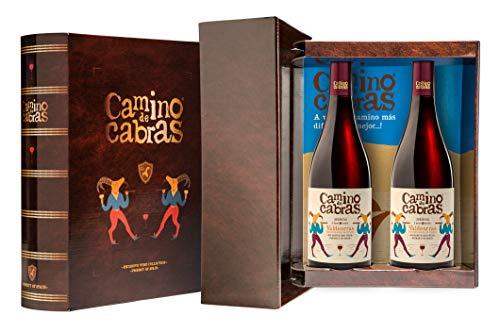 Camino De Cabras Estuche Regalo - Producto Gourmet - Vino Tinto - Mencía D.O. Valdeorras - Vino Bueno Para Regalo - 2 Botellas X 75cl