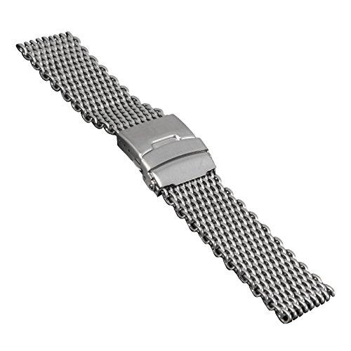 Uhrenarmband, Edelstahl, Milanaise, Mesh, verschd. Größen, 2797 (22 mm)