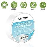 LMLMD Nastro biadesivo per tappeti- [5 cm per 27 m, 90 piedi!] - Nastro per tappeti resistenti, ideale per lavori domestici e artigianato