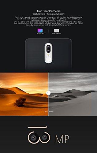 Leagoo M8 Pro - 5.7 pulgadas Corning Gorilla Glass 4 Pantalla Smartphone doble Cámara trasera (5MP + 13MP), Android 6.0 Quad core 2 GB de RAM de 16 GB Huella dactilar Batería 3500mA - oro