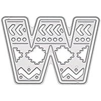 Xurgm Alfabeto W para Repujado Plantilla para DIY Scrapbooking definen álbum Papel Tarjeta