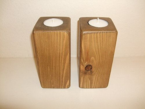 stoneywood-rustic-pair-of-pillar-tealight-holders-set