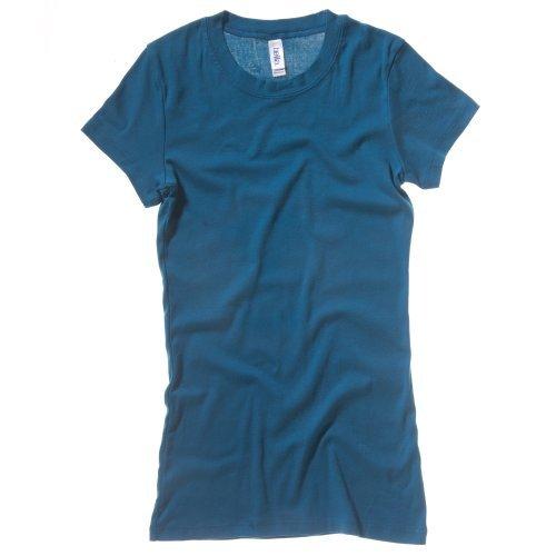 Canvas Kurzarm-t-shirt (Bella + Canvas Damen T-Shirt, Kurzarm, Rundhalsausschnitt (XL) (Petrol))