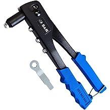 S&R Remachadora Manual Profesional 2,4-5,0mm para Remaches de Acero y