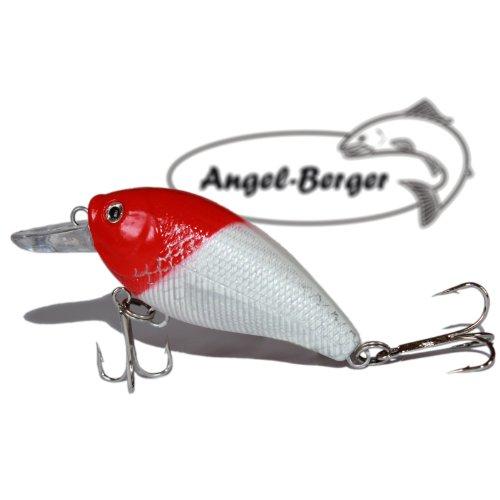 Fat Crank 3D Wobbler Red Head Angel Berger Hardbait
