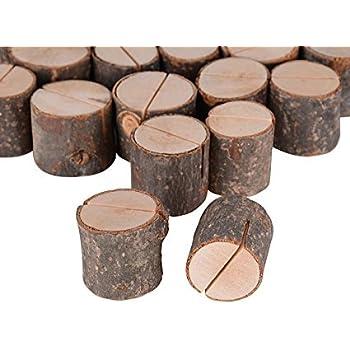 100x stand en bois Support Photo Carte Nom Marque Place Num/éro Table Pour Mariage Anniversaire H 3.2cm