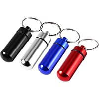 Portable Travel Pill Box Keychain Wasserdichter Mini Tablet Aufbewahrungskoffer Aluminium Blau preisvergleich bei billige-tabletten.eu