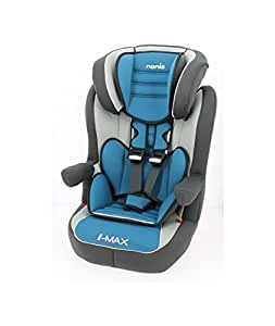 nania si ge auto rehausseur dossier isofix avec harnais bleu de 9 36 kg b b s. Black Bedroom Furniture Sets. Home Design Ideas