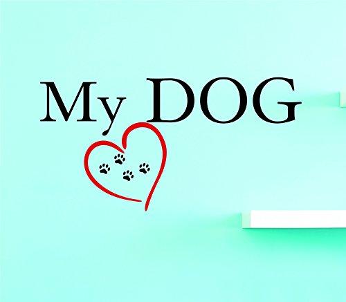 Design mit Vinyl 3Jer 21763Hot neuen Aufklebern My Dog Art Wand Größe: 50,8x 101,6cm Farbe, 50,8x 101,6cm Multi