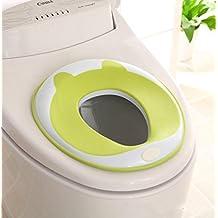 Homeself Adaptador de inodoro para niños, unisex, ideal para inodoros redondos u ovalados, superficie segura antideslizante, color rosa