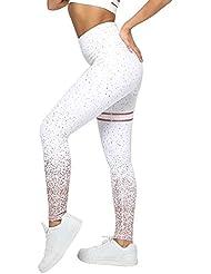 OME&QIUMEI Pantaloni da Yoga Elastici A Vita Alta Pantaloni Sportivi da Allenamento Skinny A Fiori Pantaloni da Yoga da Ginnastica Pantaloni da Jogging Pantaloni e pantaloncini