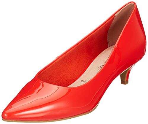 Tamaris Damen 1-1-22317-32 608 Pumps, Orange (Orange Patent 608), 42 EU