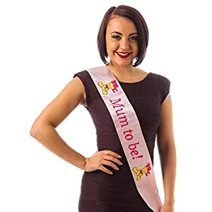 Alandra Party P Mum to Be Sash - Logo bordado, unisex adulto, color rosa, talla única