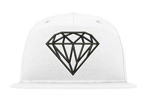 TRVPPY 5-Panel Snapback Cap Modell Diamant Diamond, Schwarz-Weiß, B610 - Tisa Hat