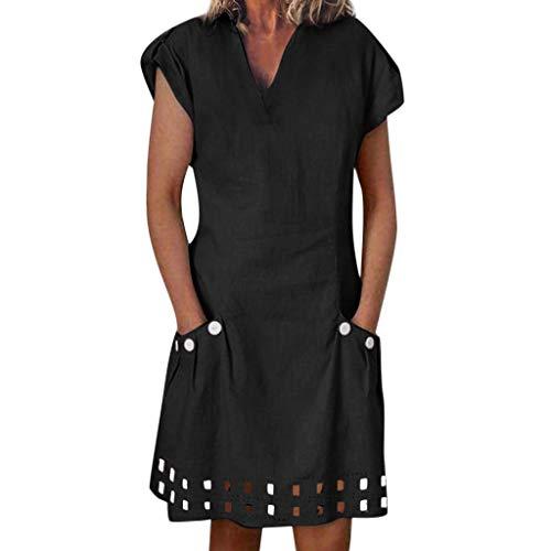 Femme Vintage Robe,Grande Taille L-4XL Femmes Halloween Imprimé Robe Vintage Au Genou Manches Longues Robe de Soirée Swing Robe Soirée Cocktail