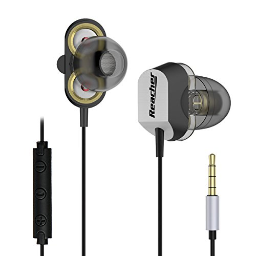 Reacher-Hybrid-Dual-Drivers-Auriculares-con-bajo-pesado-inter-oreja-con-micrfono-para-SmartPhones