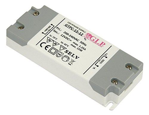 12Volt DC LED Trafo 15Watt - Für LED Leuchtmittel - Stripe - Lampen