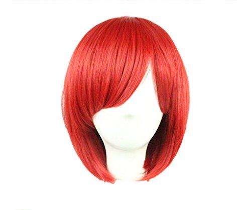 (Quibine Anime-Perücke, kurz, Bob-Stil, 32 cm, glattes Haar)