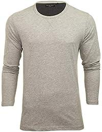 ffb24cd2d3eb Brave Soul Mens Plain Long Sleeve Summer Crew Neck T-Shirt Cotton Sweatshirt