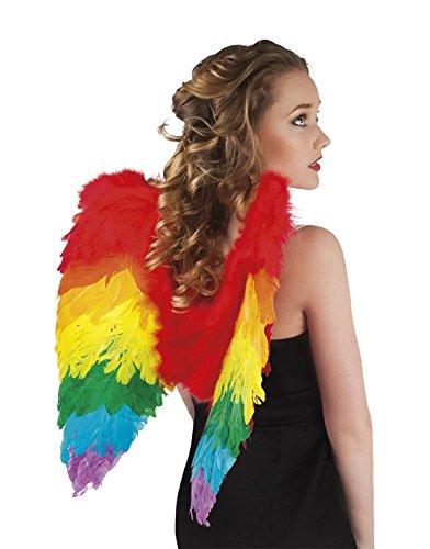 Papagei Erwachsene Für Kostüm - TH-MP Bunte Federflügel Regenbogen Flügel Papagei Kostüm Zubehör