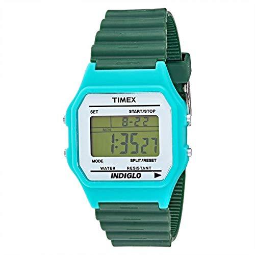Timex Indiglo Orologio Digitale da Polso da Uomo in silicone verde