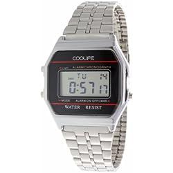 Coolife Unisex-Armbanduhr Retro Style Watches Digital Quarz Metall CL2013G919