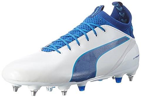 Puma Herren Evotouch Pro Mx SG Fußballschuhe, Weiß (Puma White-True Blue-Blue Danube 02), 47 EU