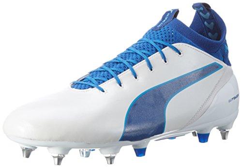 Puma Herren Evotouch Pro Mx Sg Fußballschuhe Weiß (puma white-true blue-blue danube 02)