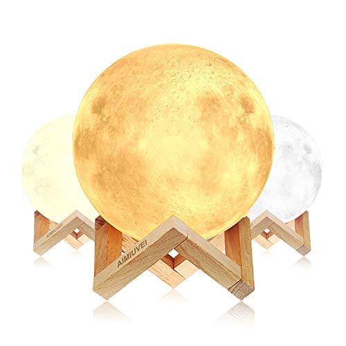 Lámpara de Luna 3D, AIMIUVEI Luz Nocturna