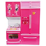 RIANZ Modern Kitchen Toy Princess Set For Your Baby Girl, Battery Operated Play Set With Refrigerator, Accessories, Fruits, Music And Lights, Pretend Play Toy, Birthday Gift For Kids