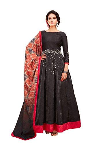 FKART Black Color Latest Designer Party Wear, Traditional Anarkali Salwar Suit/ Long...